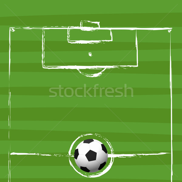 Campo de fútbol grunge dibujo fútbol resumen blanco Foto stock © opicobello