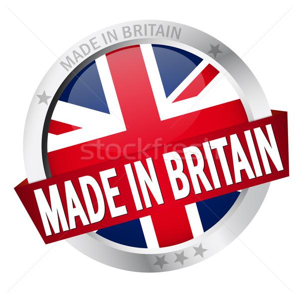 Knop banner groot-brittannië business web vlag Stockfoto © opicobello