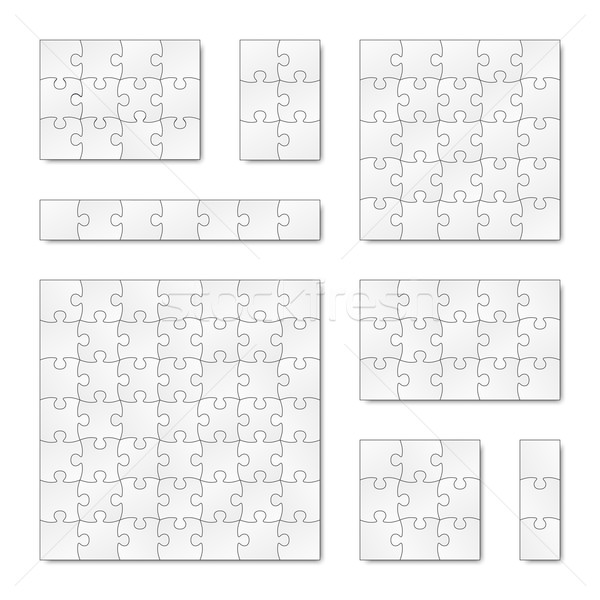 Collection of puzzle templates Stock photo © opicobello