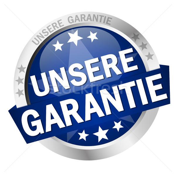 Button with banner Unsere Garantie Stock photo © opicobello