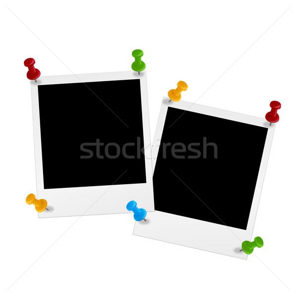 Pin papieru tle przestrzeni biurko komunikacji Zdjęcia stock © opicobello