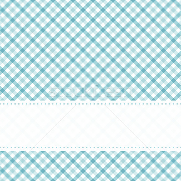 checkered table cloth pattern with banner Stock photo © opicobello
