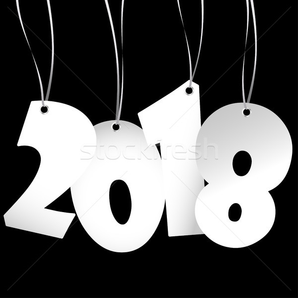 hang tags with year 2018 Stock photo © opicobello