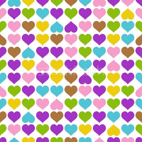 бесконечный сердцах красочный сердце рождения письме Сток-фото © opicobello