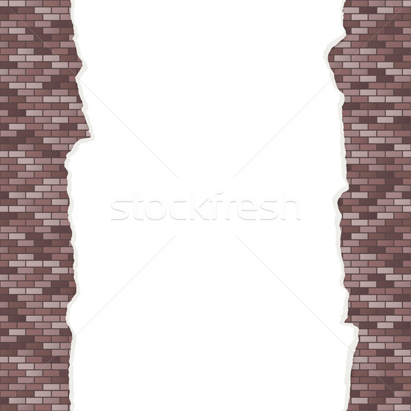 wall background with broken plaster seamless Stock photo © opicobello
