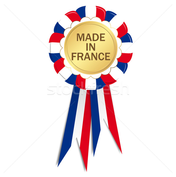 Seal with ribbons MADE IN FRANCE Stock photo © opicobello