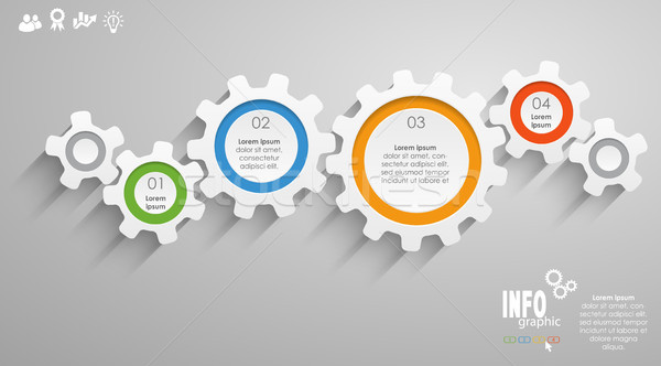 gear wheels info graphic Stock photo © opicobello