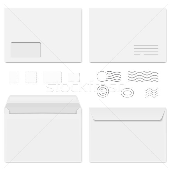 envelopes and postage stamps Stock photo © opicobello