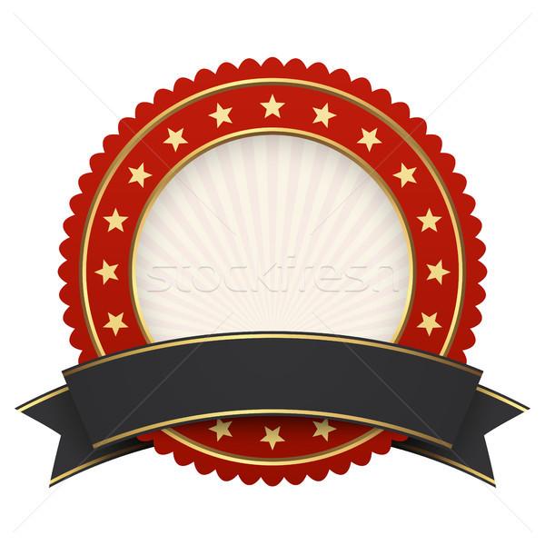 Düğme şablon kırmızı siyah afiş vektör Stok fotoğraf © opicobello