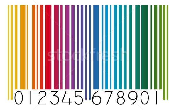 Barkod renkli alışveriş dijital Avrupa ekonomi Stok fotoğraf © opicobello