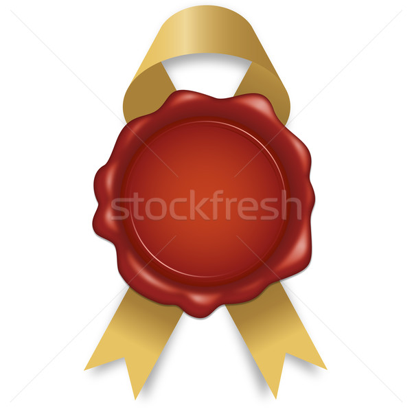 Wax seal with ribbon Stock photo © opicobello