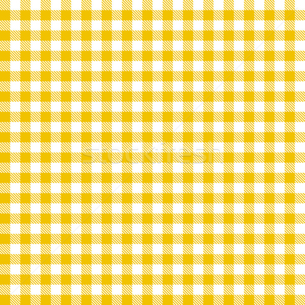 Checkered tablecloths pattern - endless - yellow Stock photo © opicobello
