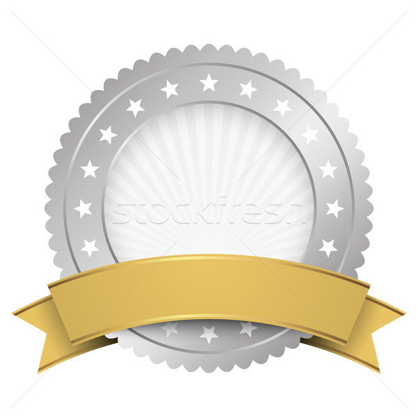 Düğme şablon gümüş altın afiş vektör Stok fotoğraf © opicobello