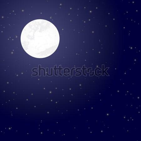 moon and starry night Stock photo © opicobello