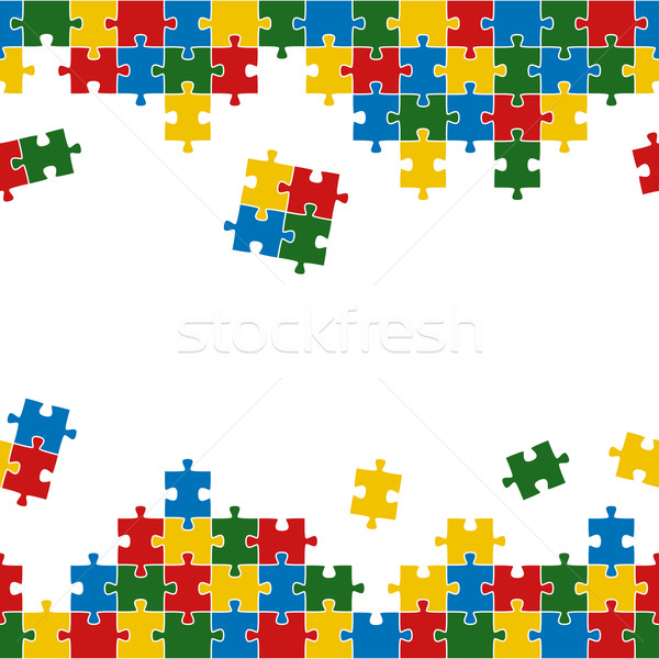 Puzzle background colorful and endless Stock photo © opicobello