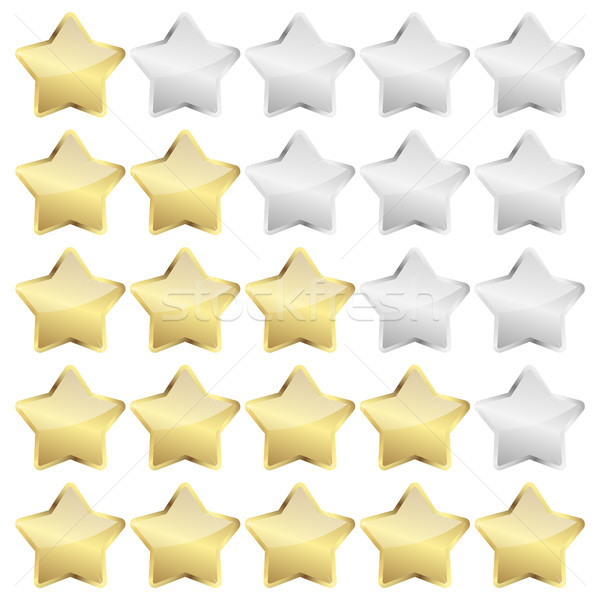 review stars vector Stock photo © opicobello
