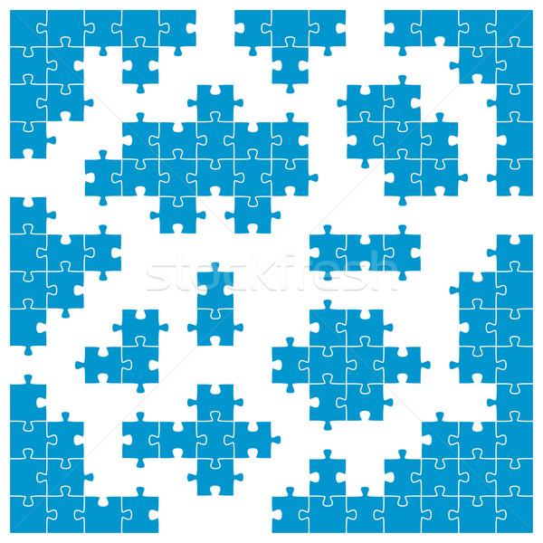 colored puzzle - corner pieces and individual parts Stock photo © opicobello