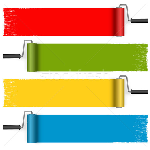 paint roller collection Stock photo © opicobello