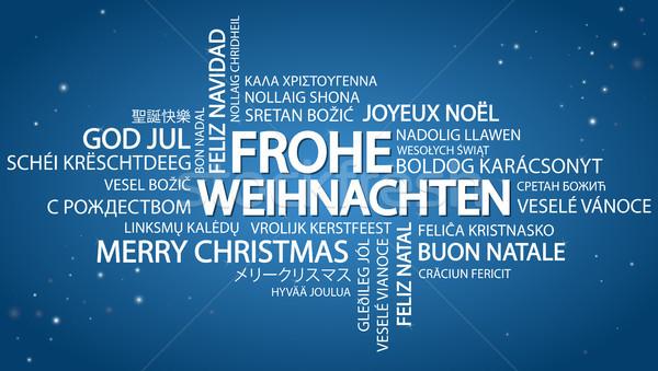 Word cloud Merry Christmas (in German
