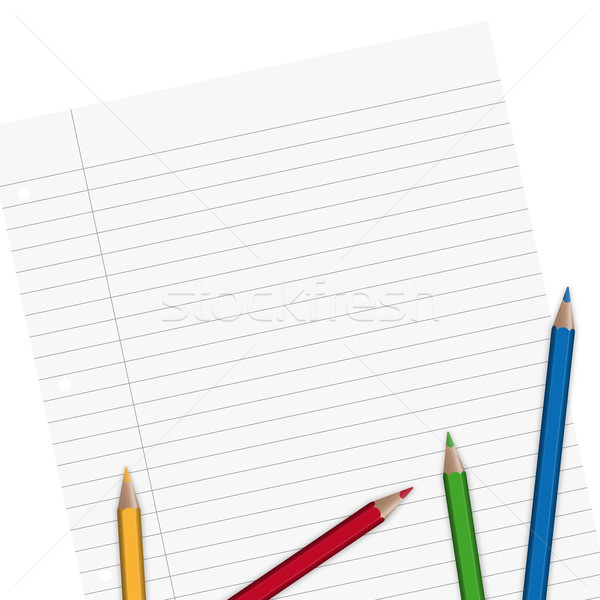 Paper lined with pencils Stock photo © opicobello
