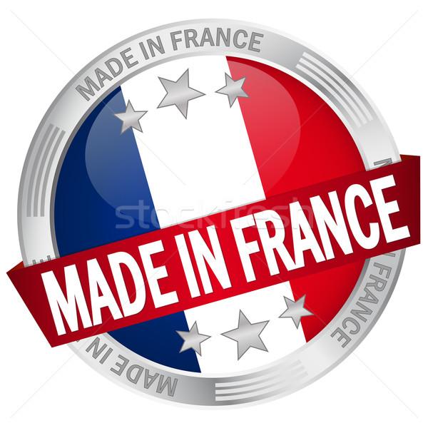 ボタン バナー フランス ウェブ フラグ サービス ストックフォト © opicobello