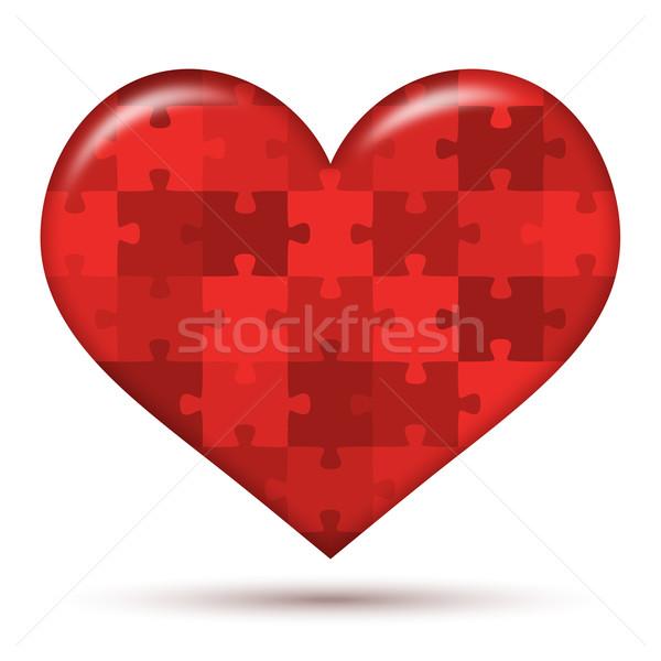 heart Puzzle Stock photo © opicobello