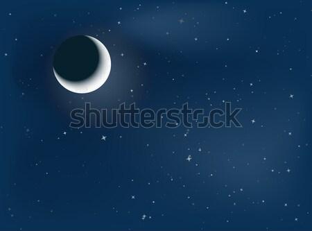 луна ночь иллюстрация вечеринка Сток-фото © opicobello
