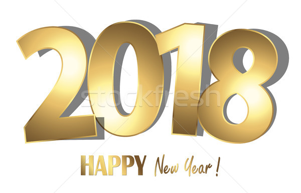 Stock photo: happy new year 2018 greetings background