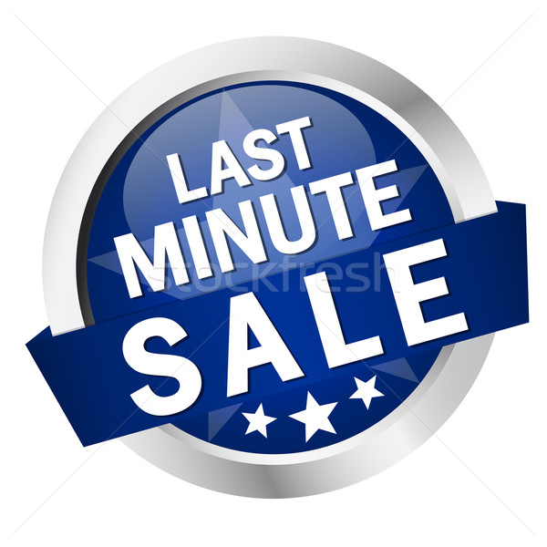 Button with banner ' LAST MINUTE SALE ' Stock photo © opicobello