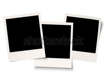четыре тень бумаги фон кадр пространстве Сток-фото © opicobello