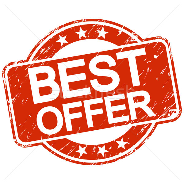 Czerwony pieczęć najlepszy oferta tekst sklep Zdjęcia stock © opicobello