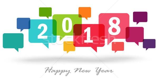 Ano novo texto fundo Foto stock © opicobello