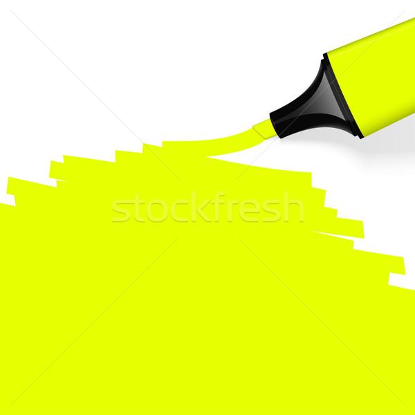 Színes szövegkiemelő iroda toll háttér információ Stock fotó © opicobello