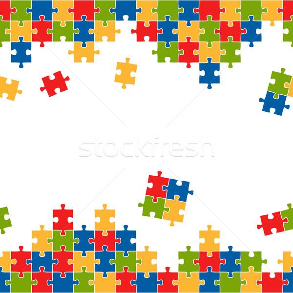 Senza soluzione di continuità puzzle colorato top fondo Foto d'archivio © opicobello