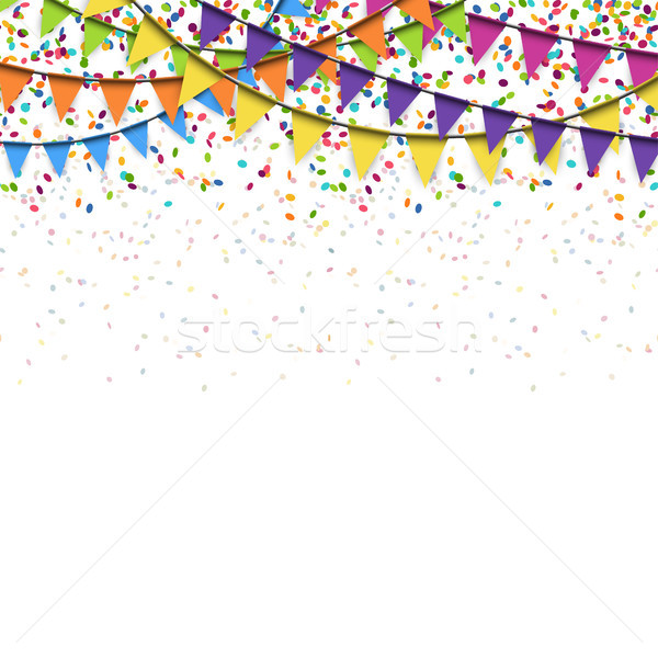 Grinalda confete festa festival aniversário Foto stock © opicobello