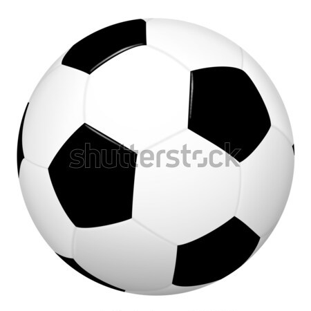 simple soccer ball Stock photo © opicobello