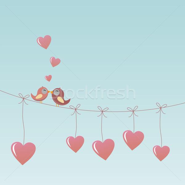 Birds in Love Stock photo © opicobello
