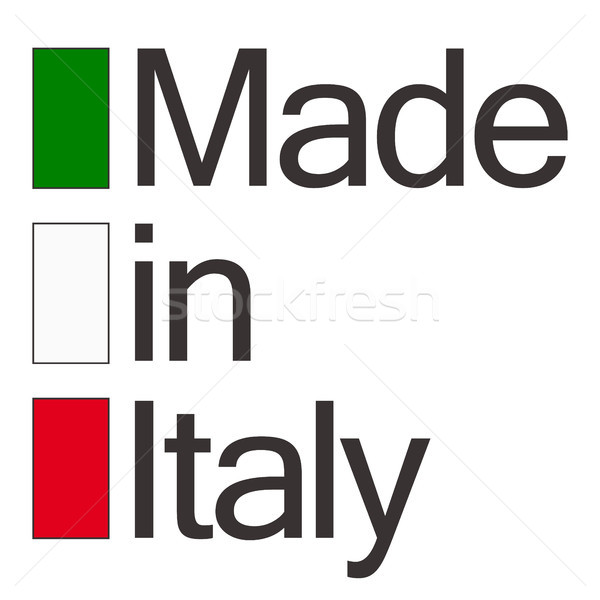 seal of quality Made in Italy Stock photo © opicobello