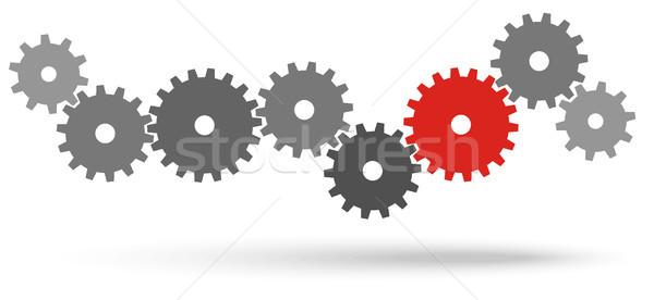 Narzędzi współpraca symbolizm szary zespołowej jeden Zdjęcia stock © opicobello