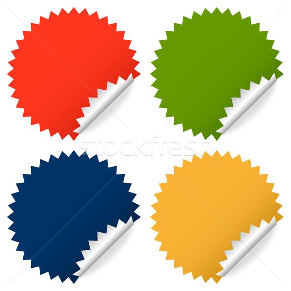 Stock fotó: Gyűjtemény · színes · matricák · felirat · háló · zöld