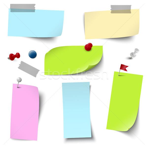 Stok fotoğraf: Boş · renkli · kağıtları · vektör · dosya