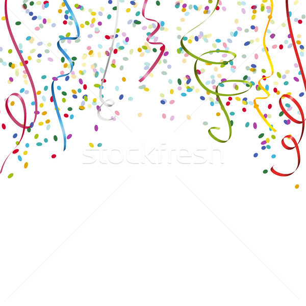 colored streamers and confetti background Stock photo © opicobello