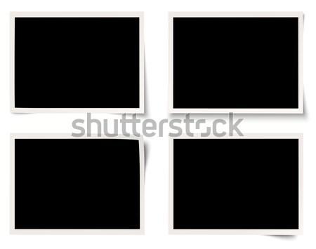 four polaroids with different shadows Stock photo © opicobello