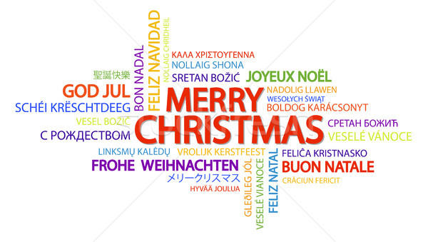Word cloud Merry Christmas Stock photo © opicobello