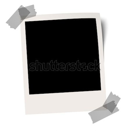 Blank polaroid with adhesive tape Stock photo © opicobello