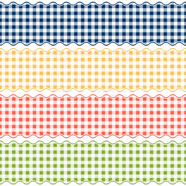 Banner checkered pattern - endless Stock photo © opicobello