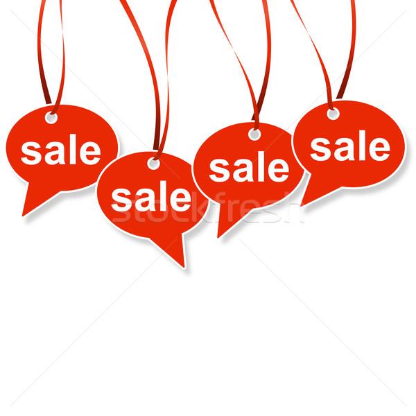 Konuşma balonu satış kış finanse alışveriş euro Stok fotoğraf © opicobello