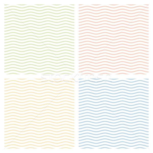 коллекция волны бесконечный дизайна фон Сток-фото © opicobello