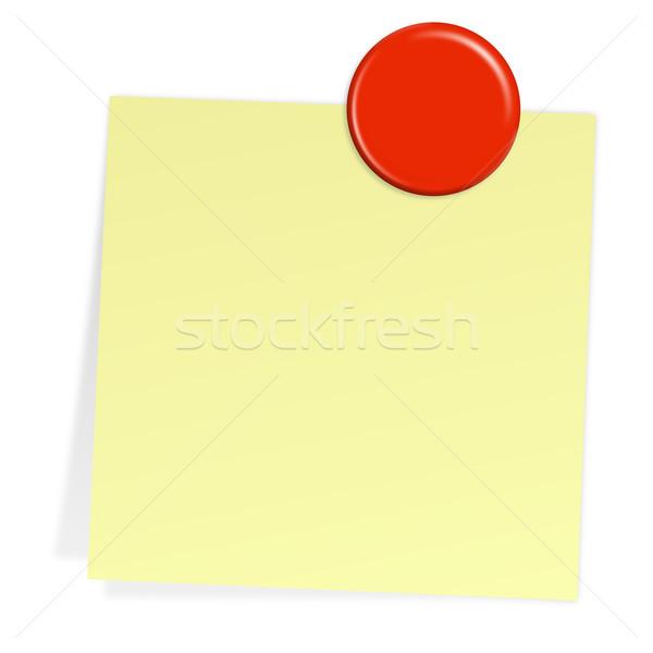 Schrijfpapier magneet communicatie kleur informatie boord Stockfoto © opicobello