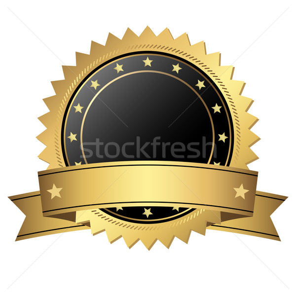 Template button with banner Stock photo © opicobello